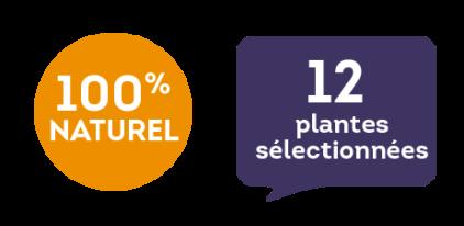 100 % naturel - 12 plantes sélectionnées