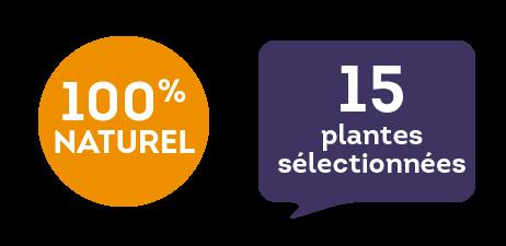 100 % naturel - 15 plantes sélectionnées