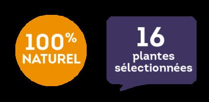 100 % naturel - 16 plantes sélectionnées