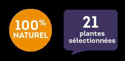 100 % naturel - 21 plantes sélectionnées