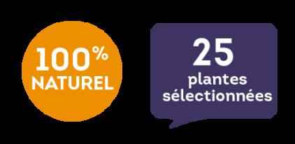100 % naturel - 25 plantes sélectionnées