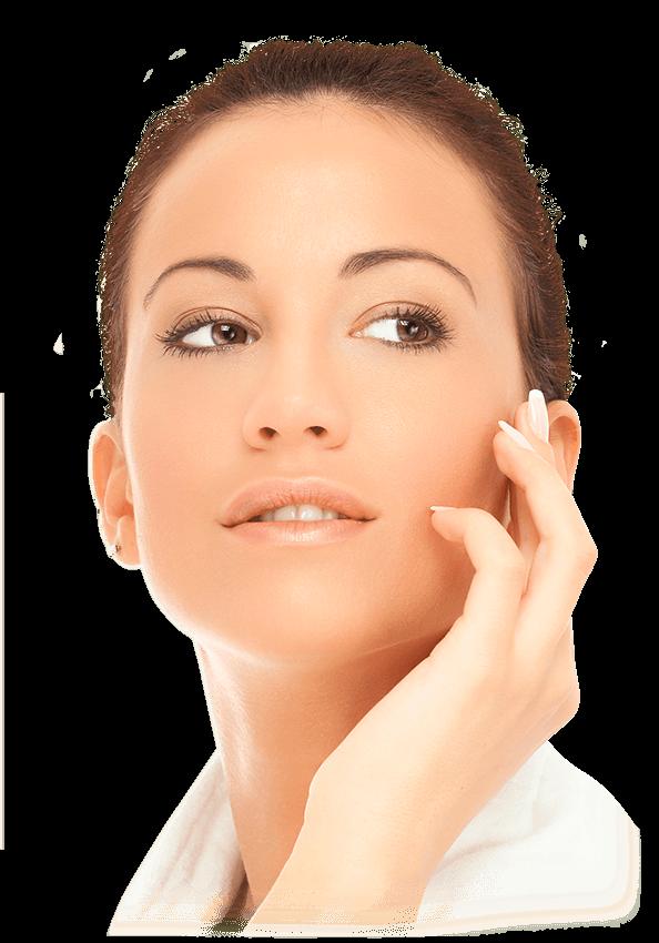 Femme cosmétiques visage