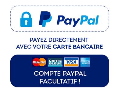 Paiement sécurisé Paypal - Cartes bancaires