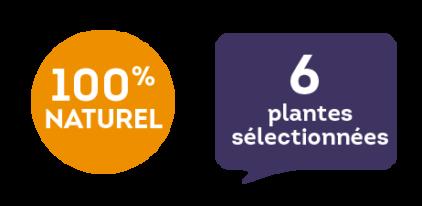 100 % naturel - 6 plantes sélectionnées